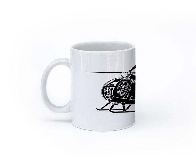 KillerBeeMoto: OH Cayuse Helicopter On Coffee Mug (White)