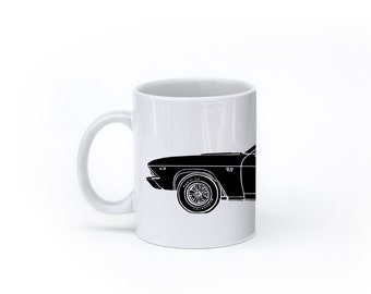 KillerBeeMoto:    Limited Release American Engineered Muscle Car Hot Rod Side View Coffee Mug (White)
