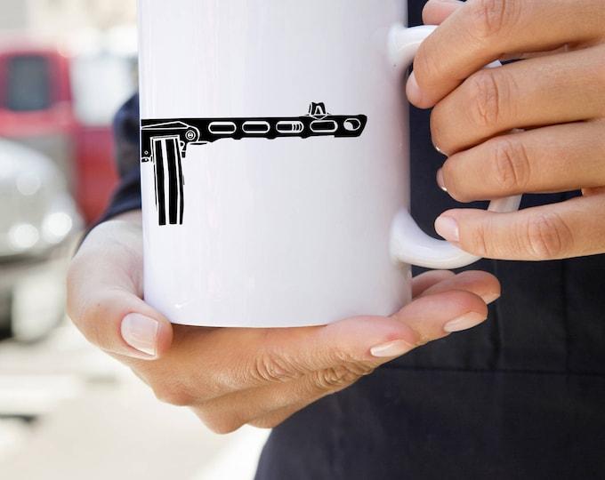 KillerBeeMoto:    Coffee Mug of Soviet PPSh-41 Machine Gun