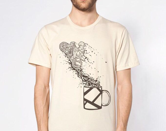 KillerBeeMoto: Motorcycle Rider Jumping Out Of Coffee Mug Motorcycle T-Shirts