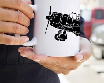 KillerBeeMoto:   Coffee Mug Commonwealth Aircraft Corporation Boomerang Fighter Aircraft Side View