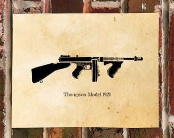 KillerBeeMoto: Limited Print Thompson Sub Machine Gun Model 1921