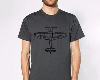 KillerBeeMoto: RAF Hawker Tempest Fighter Aircraft Top Down View Short Or Long Sleeve Shirt
