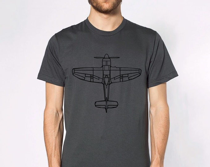 KillerBeeMoto: Tempest Fighter Aircraft Top Down View Short Or Long Sleeve Shirt