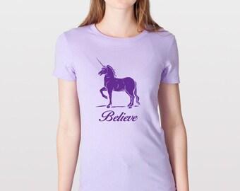 KillerBeeMoto: Believe In Unicorn T-Shirt