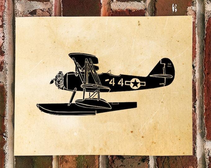 KillerBeeMoto: Limited Print Seaplane N3N-4 Trainer Aircraft