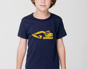 KillerBeeMoto: Construction Excavator Heavy Equipment Short or Long Sleeve T-Shirt