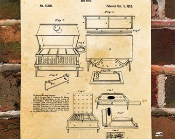 KillerBeeMoto: Duplicate of Original U.S. Patent For Lorenzo L. Langstroth Bee Hive 1852