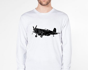 KillerBeeMoto: Chance Vought F4U Corsair Fighter Plane Short & Long Sleeve Shirt