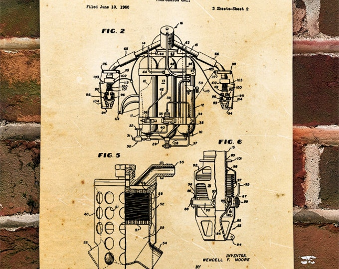 KillerBeeMoto: Duplicate of Original U.S. Patent For Jet Pack