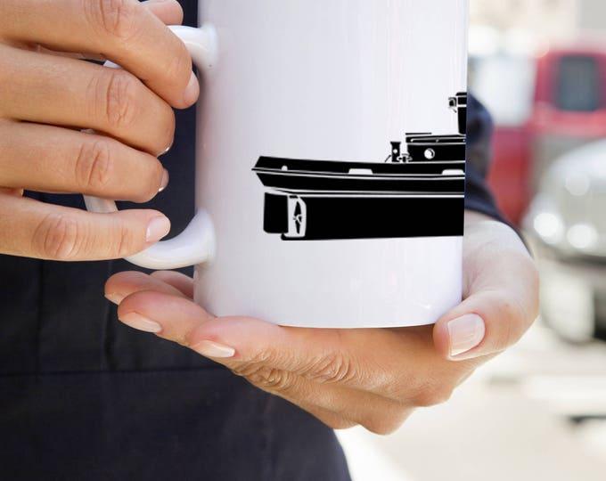 KillerBeeMoto:   Coffee Mug  Vintage 35 Foot Steelcraft Tug Boat Coffee Mug