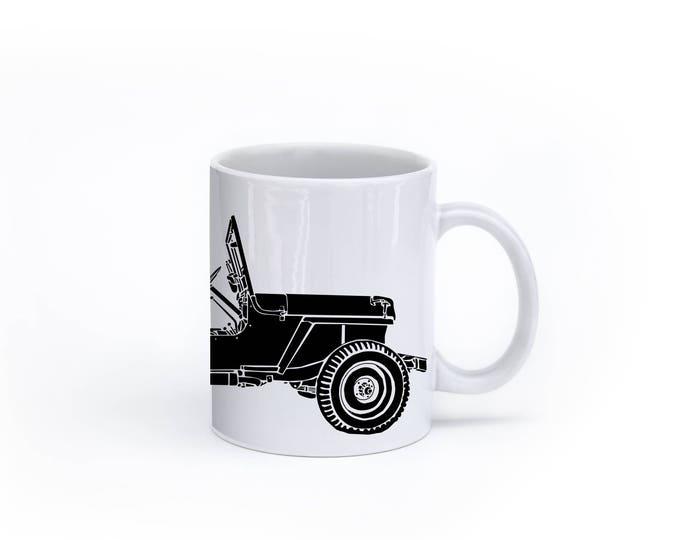 KillerBeeMoto:   Vintage American Willys Jeep SUV Coffee Mug