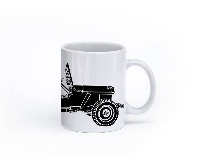 KillerBeeMoto:  Vintage World War Two Era American SUV Coffee Mug