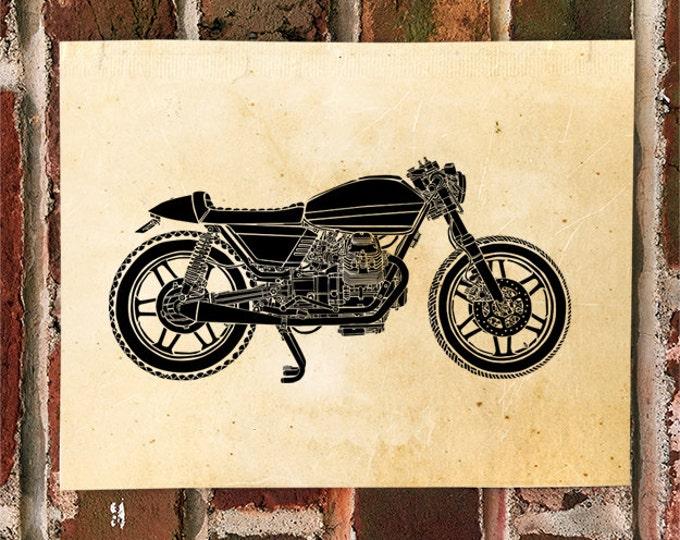 KillerBeeMoto: Limited Print Vintage Custom Italian Engineered Cafe Racer Motorcycle Print 1 of 50