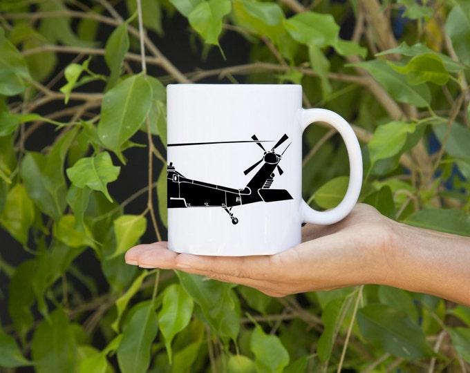 KillerBeeMoto:    Coffee Mug UH-60 Black Hawk Helicopter Mug (White)