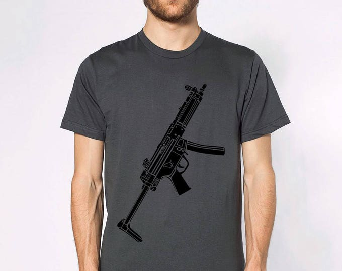 KillerBeeMoto: Limited Release Sub Machine Gun Short or Long Sleeve T-Shirt