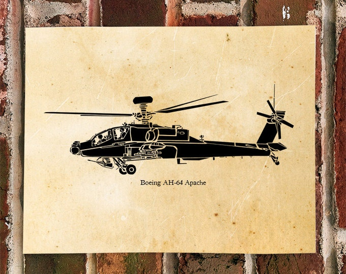 KillerBeeMoto: Limited Print AH-64 Apache Attack Helicopter Print 1 of 100