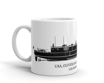 KillerBeeMoto: Oliver Hazard Perry  Frigate  Custom Coffee Mug With Vessel Name Option