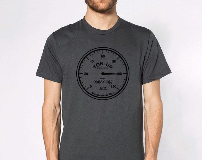 KillerBeeMoto: Ton-Up Speedometer Short & Long Sleeve Motorcycle Shirts