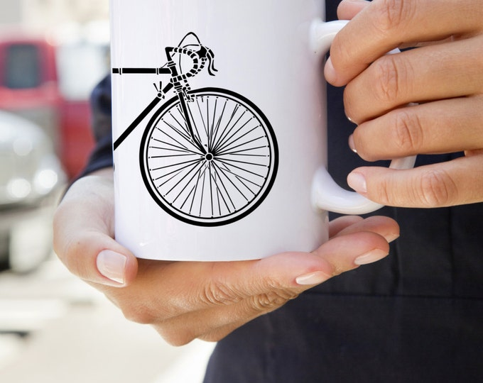 KillerBeeMoto:    Coffee Mug of Vintage 10 Speed Bicycle