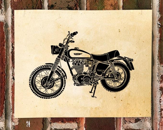 KillerBeeMoto: Limited Print Vintage Italian Scrambler Motorcycle Print 1 of 50