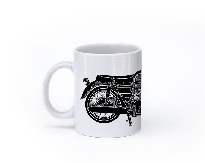 KillerBeeMoto:    Limited Release Custom 450cc Japanese Engineered Custom Cafe Racer Motorcycle On  A White Coffee Mug