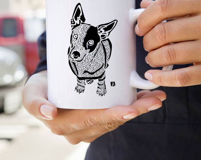 KillerBeeMoto:   Coffee Mug With Jack Russell Terrier