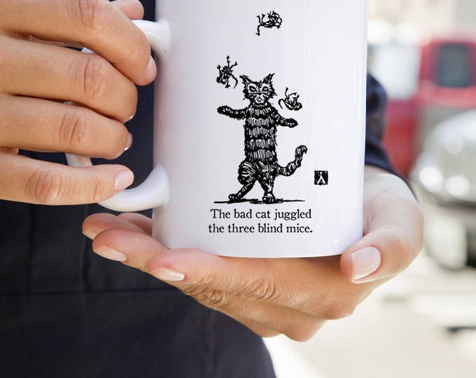 KillerBeeMoto:  The Bad Cat Juggled The Three Blind Mice Coffee   Mug
