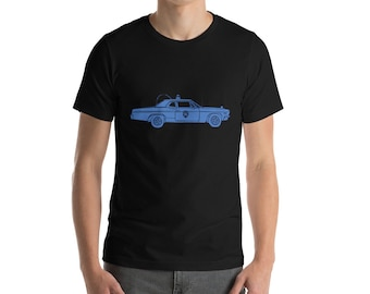 KillerBeeMoto: Vintage Cop Patrol Car Short & Long Sleeve Shirt