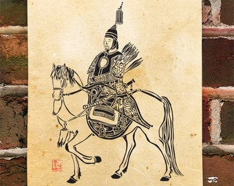 KillerBeeMoto: Limited Release Print of Emperor Kangxi On Horse Back 1 of 50