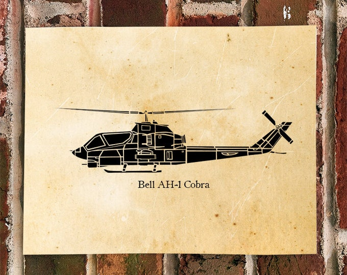 KillerBeeMoto: Limited Print Bell AH-1 Cobra Attack Helicopter Print 1 of 100