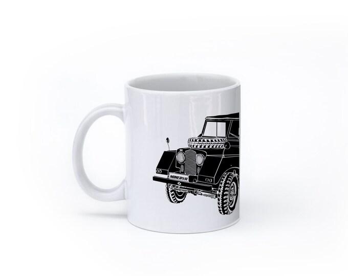 KillerBeeMoto:  Vintage Off Road Vehicle (White) Coffee Mug