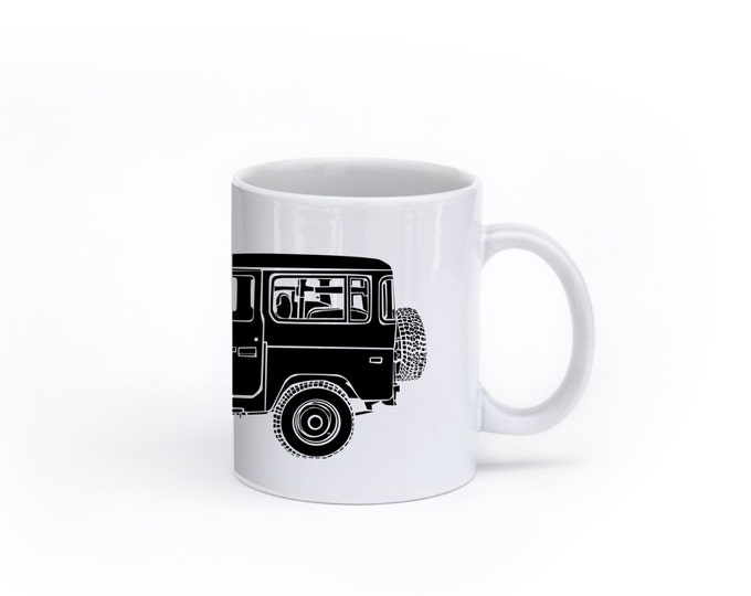 KillerBeeMoto:   Limited Release Japanese Four Wheel Drive Off Road Vehicle Side View Coffee Mug (White)