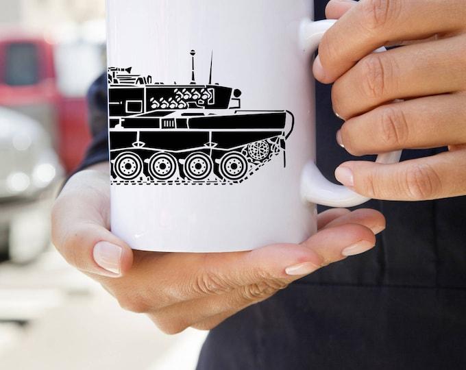 KillerBeeMoto:    Cold War Era German Leopard 2 Main Line Battle Tank Coffee Mug