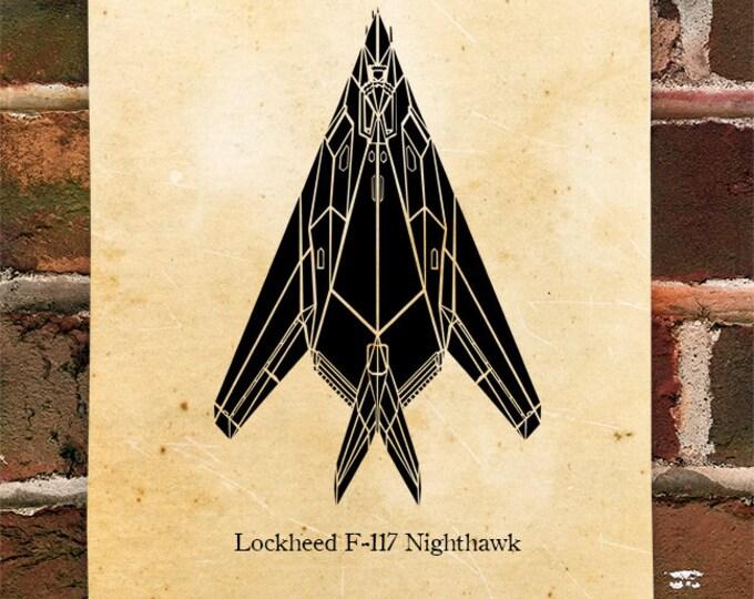 KillerBeeMoto: Limited Print F-117 Nighthawk Stealth Fighter Jet Print