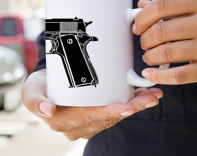 KillerBeeMoto:    M1911 Semi-Automatic Pistol Coffee Mug