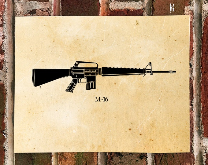 KillerBeeMoto: Limited Print M16 Rifle