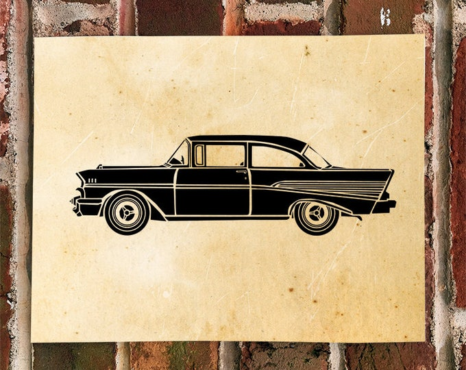 KillerBeeMoto: Vintage 1950's Car Print Limited Print 1 of 100