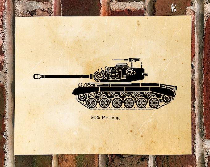 KillerBeeMoto: Limited Print Korean War M26 Pershing Tank Print