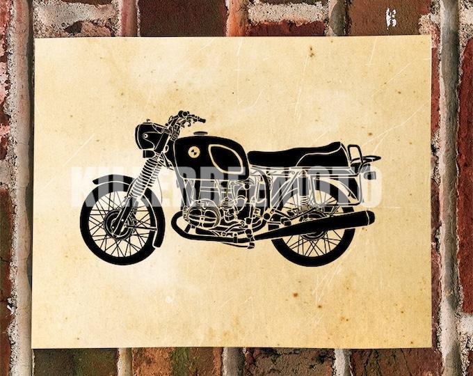 KillerBeeMoto: Limited Print German Engineered Vintage Motorcycle Print 1 of 50
