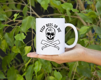 KillerBeeMoto:  Beekeepers   Coffee Mug Keep Bees Or Die Graphic