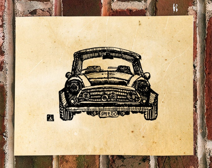 KillerBeeMoto: Limited Print Vintage British Micro Car Automotive Print Print 1 of 50