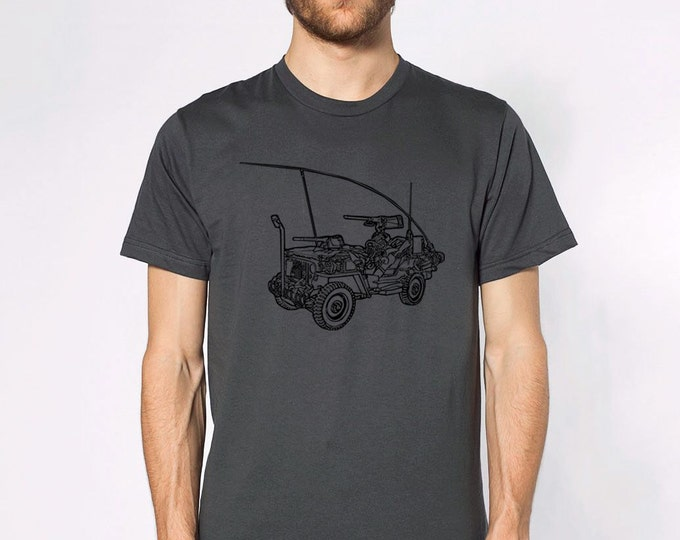 KillerBeeMoto: Limited Release Vintage World War Two Scout Vehicle On A Short Or Long Sleeve T-Shirt