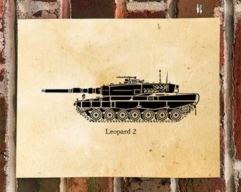 KillerBeeMoto: German Leopard 2 Main Line Battle Tank Print