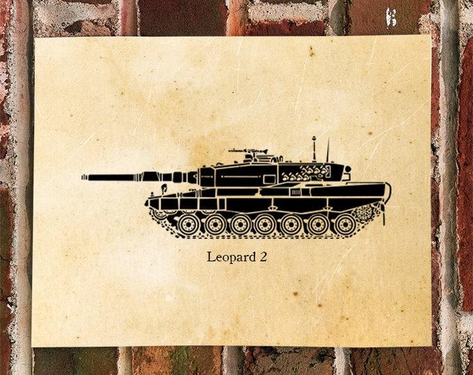 KillerBeeMoto: German Leopard 2 Main Line Battle Tank Print