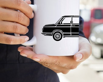 KillerBeeMoto:   Coffee Mug  Limited Release Vintage German Engineered Sedan On Coffee Mug (White)