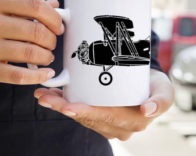 KillerBeeMoto:    Coffee Mug N3N-4 Trainer Aircraft
