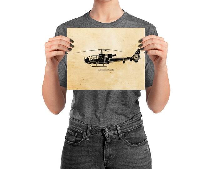 KillerBeeMoto:  Vintage Gazelle Military Helicopter Limited Print