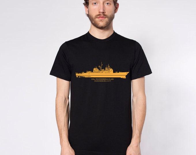 KillerBeeMoto: Ticonderoga-class Cruiser With Custom Ship Labels Short & Long Sleeve Shirt
