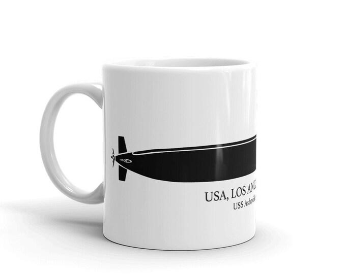 KillerBeeMoto: Los Angeles  Class Fast Attacker Submarine Custom Coffee Mug With Vessel Name Option